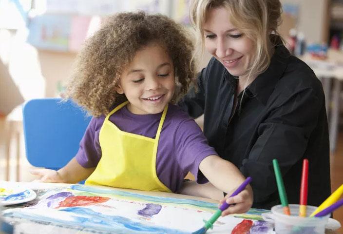 peinture et enfant
